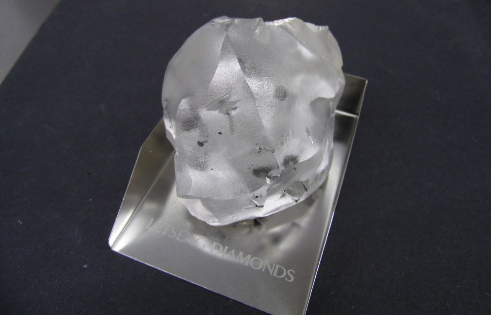 The 910 carat colourless diamond unearthed in Lesotho, southern Africa, is thought to be the fifth largest discovery in history