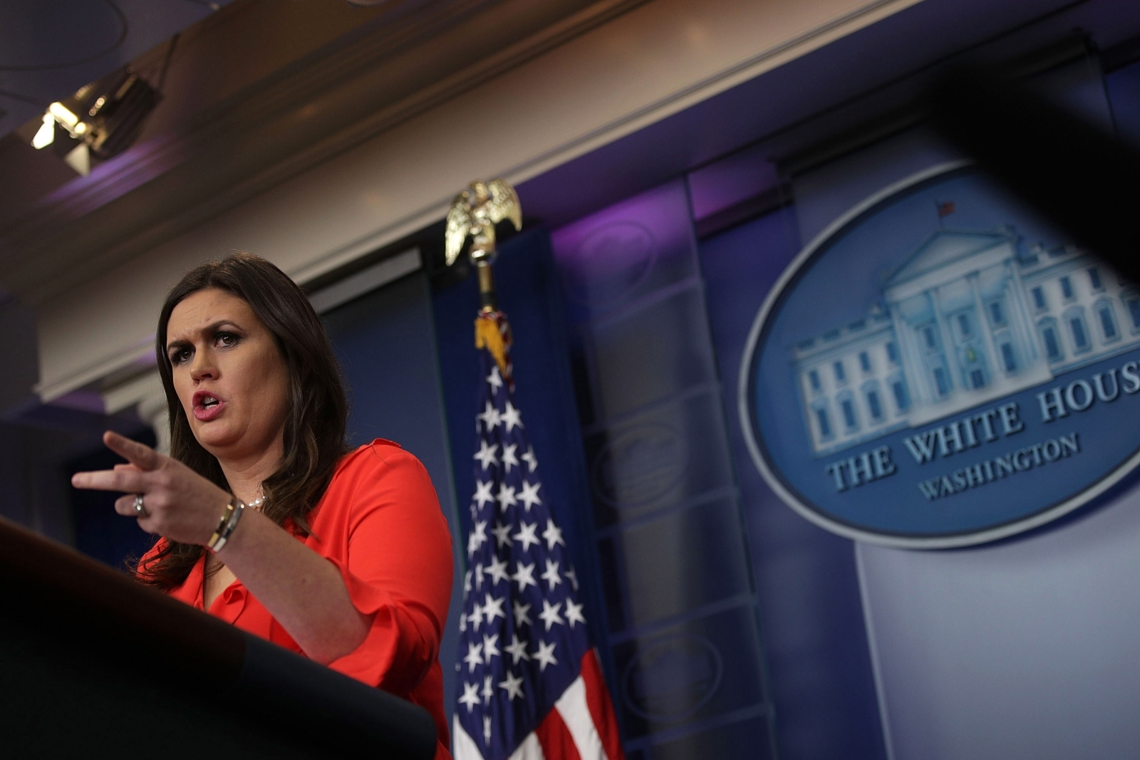 Sarah Sanders uses White House Twitter account to attack Amazon Echo