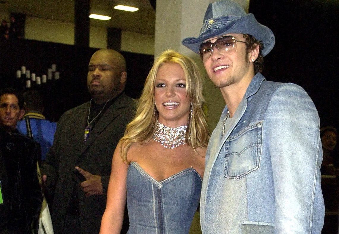 Britney Spears and Justin Timberlake in denim