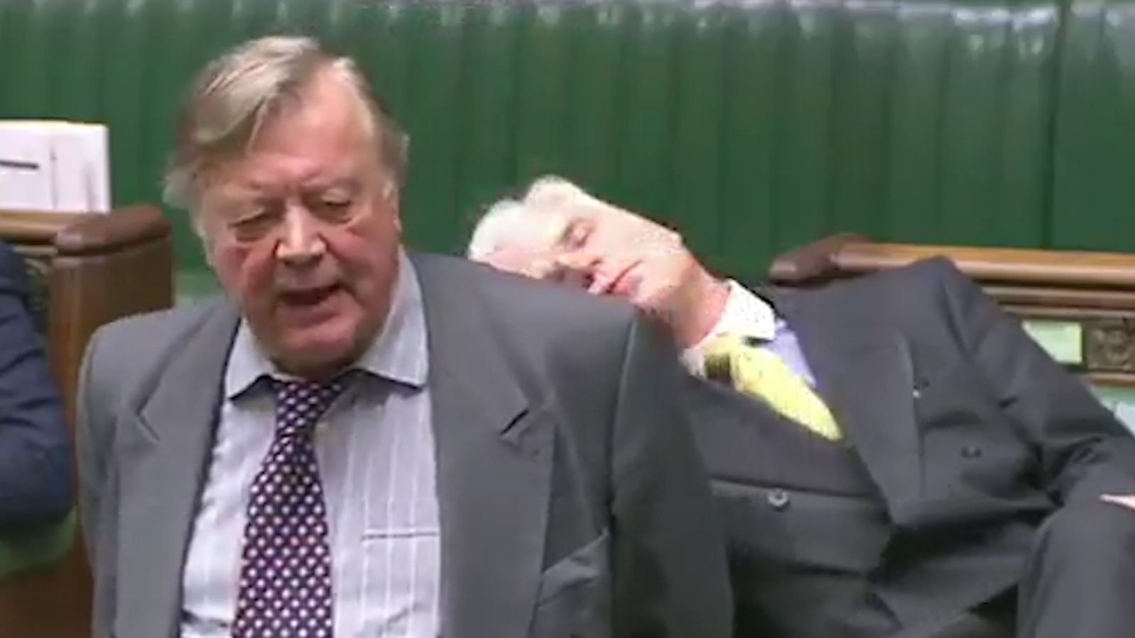British MP falls asleep in parliament
