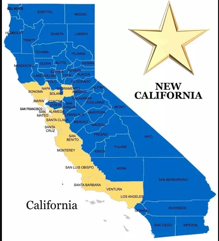 Proposed map of California