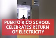 Puerto Rico School Shares Heartwarming Moment Electricity Is Restored After 112 Days