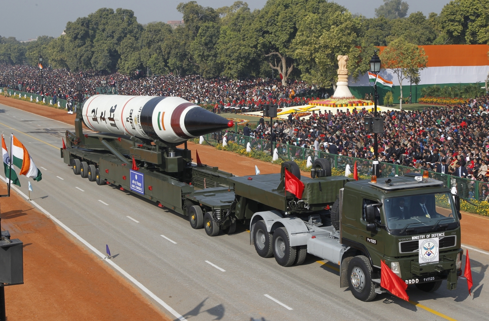 India Agni missile test