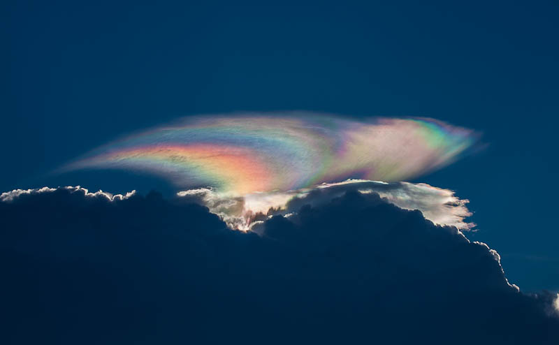 Rainbow Clouds Incredible Images Emerge Of Rare