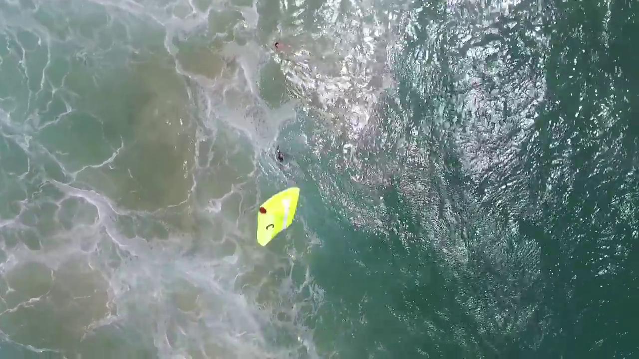 Drone drops lifesaving device