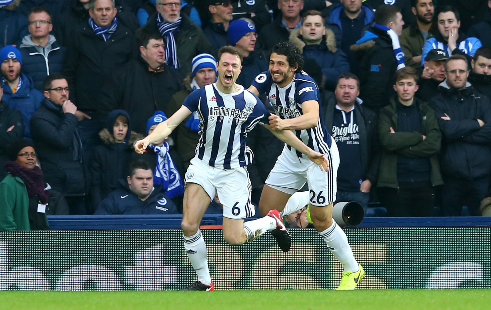 Jonny Evans and Ahmed Hegazi