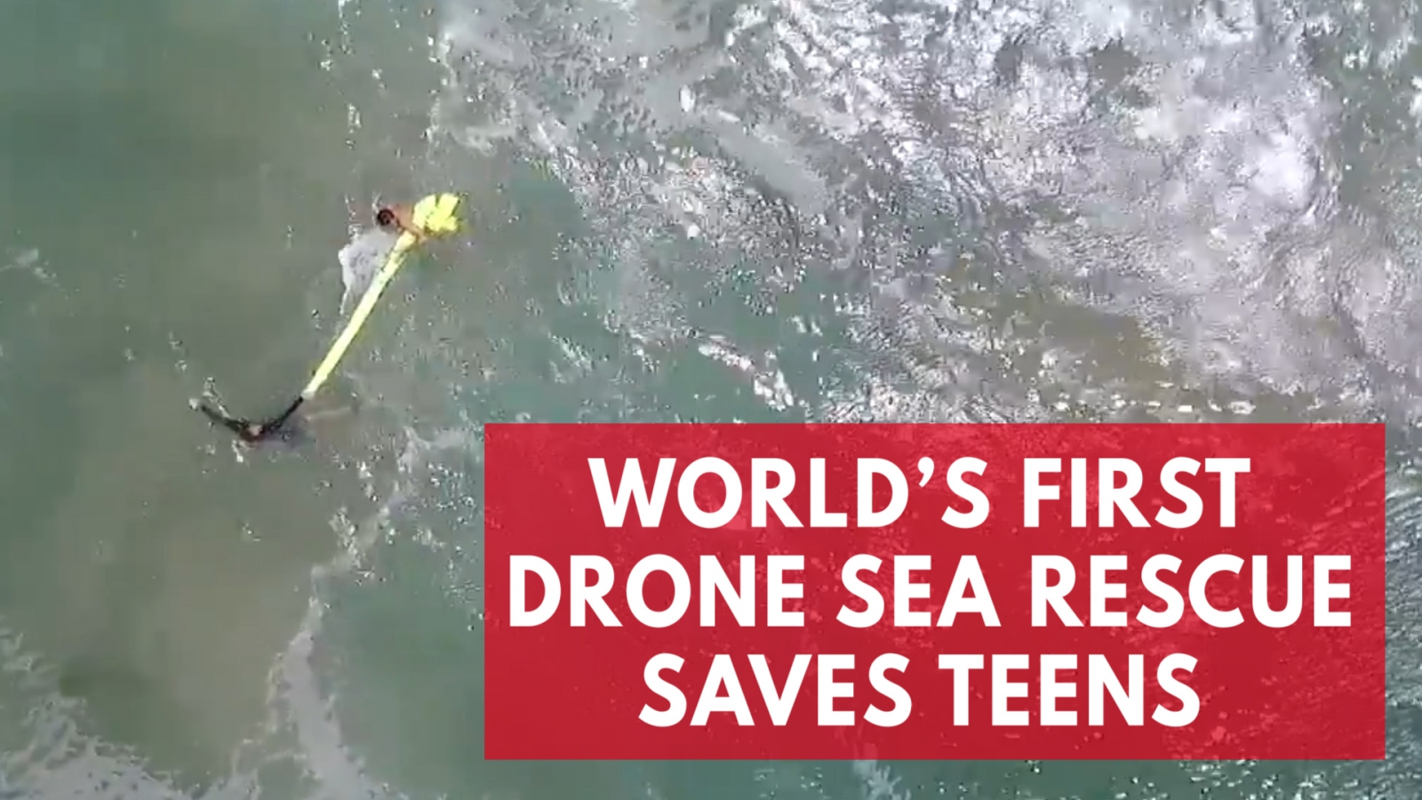 Dramatic 'world's first' sea drone rescue in Australia captured on camera