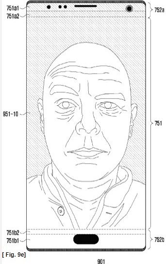 Samsung all-screen patent
