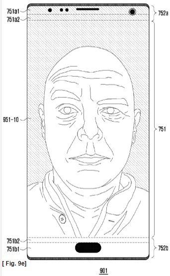 Samsung all-screen patent