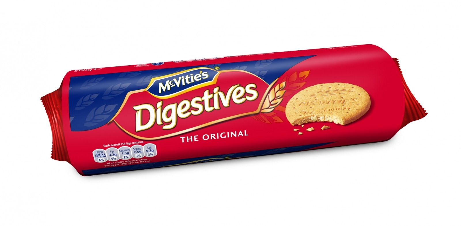 A 500g packet of Digestives biscuits will shrinking by 100g due to rising costs in the wake of the UK's Brexit vote
