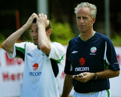 Mick McCarthy and Roy Keane