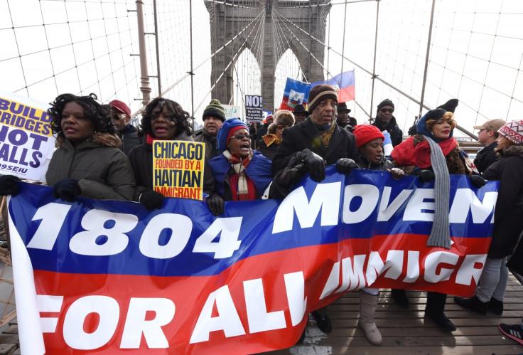 trump protest haiti