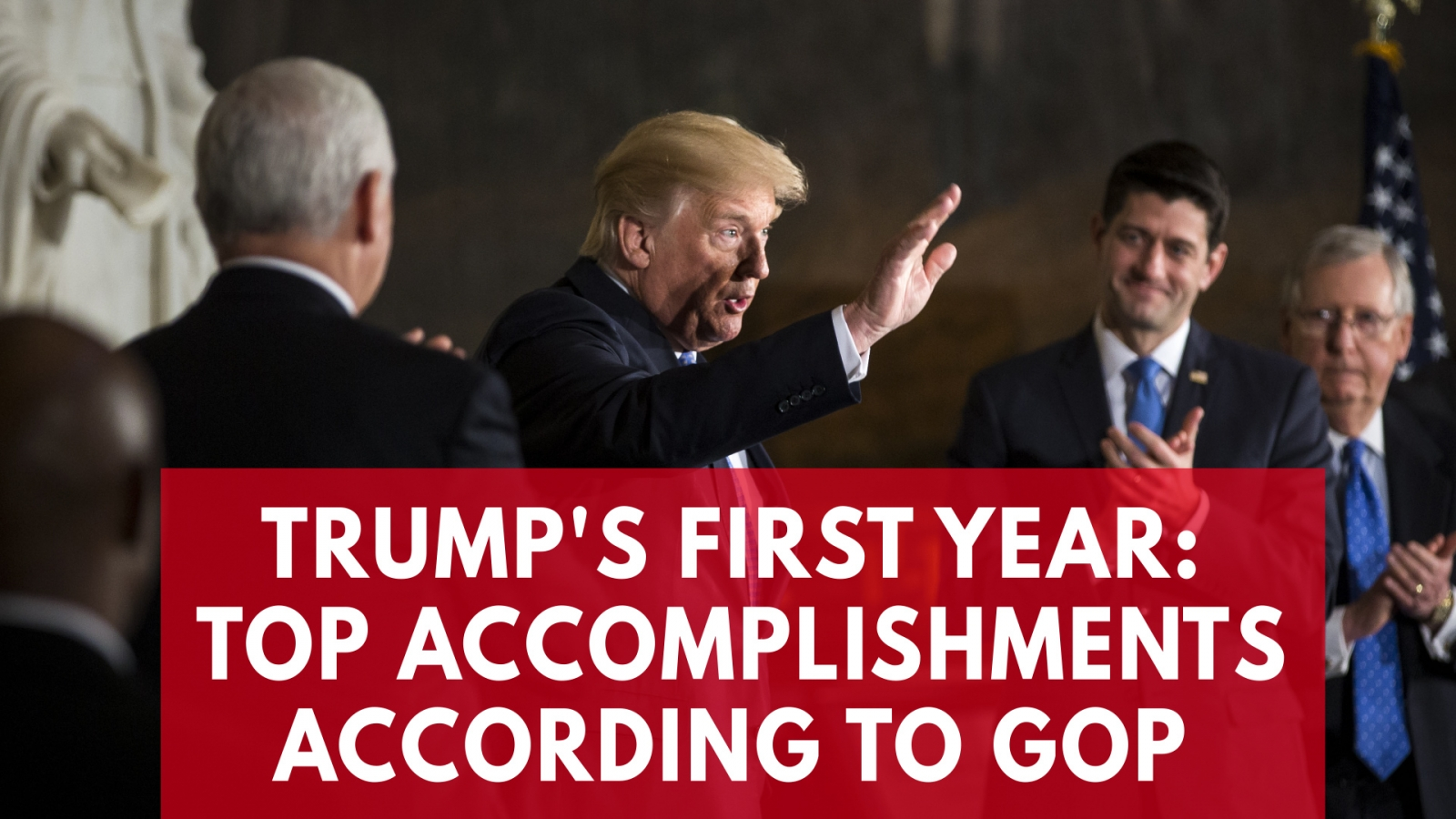 Donald Trump's top accomplishments in his first year as president