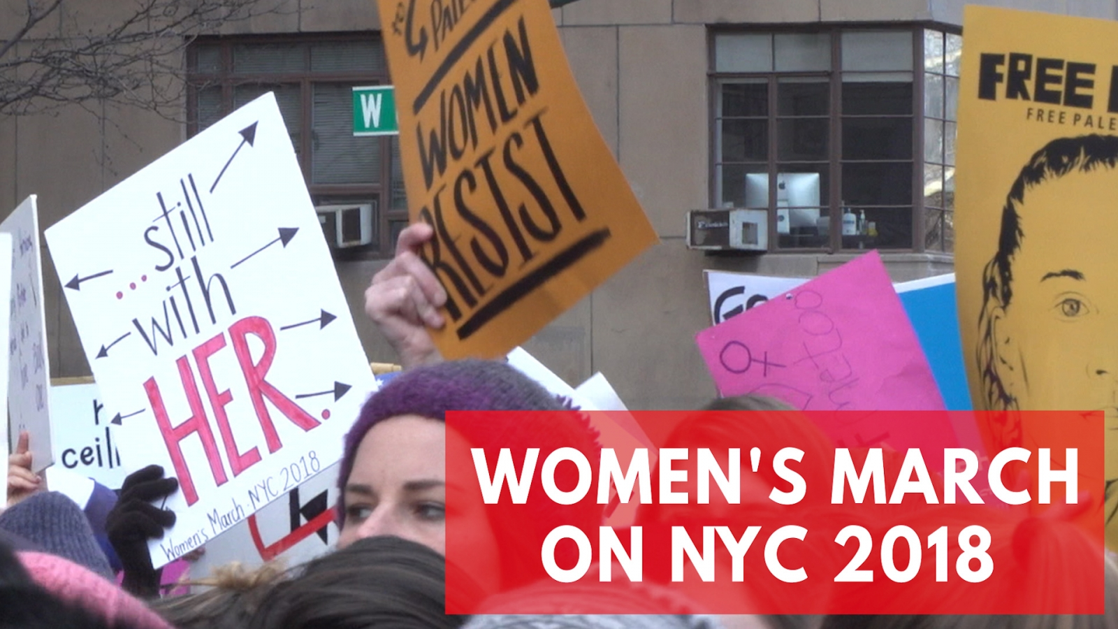 'Time's Up': 2018 Women's March on New York City