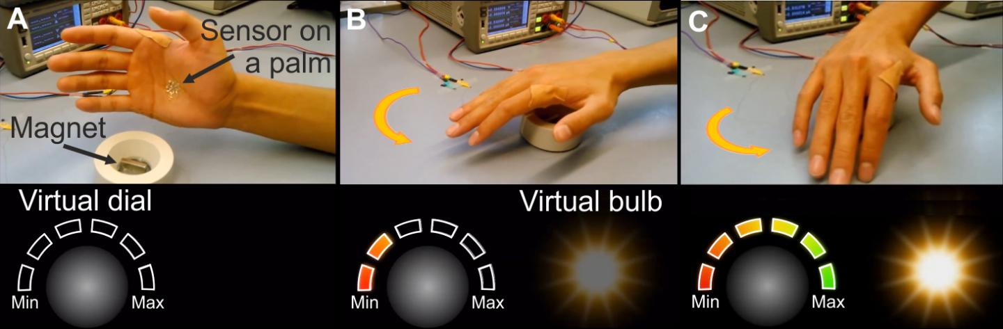 Controlling virtual light bulbs without touching them