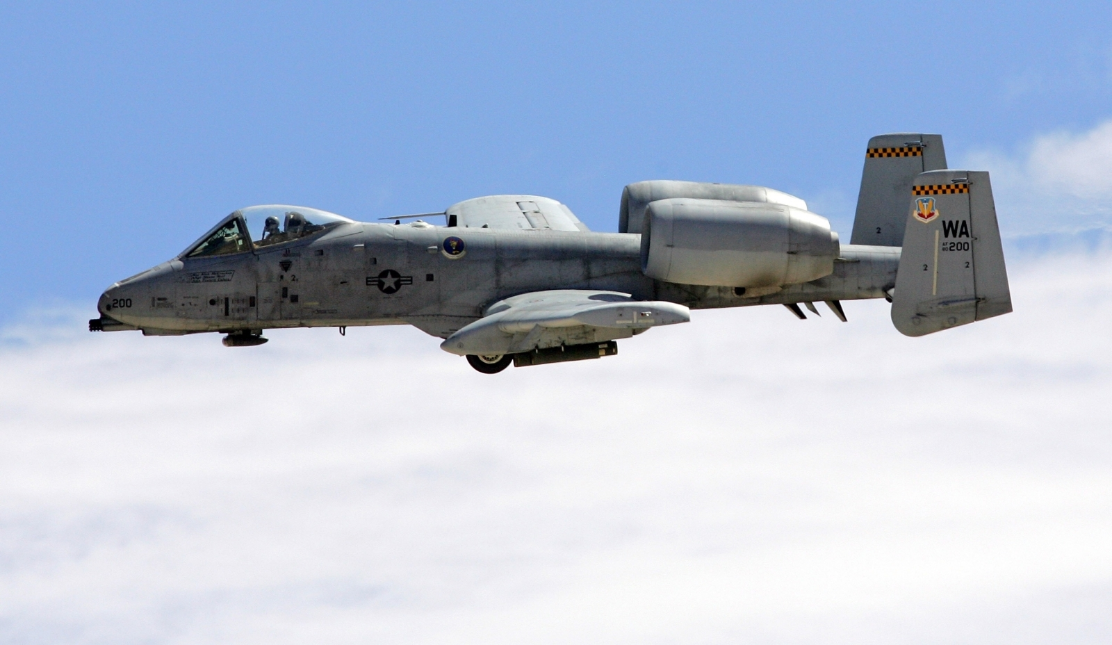 A-10 in flight