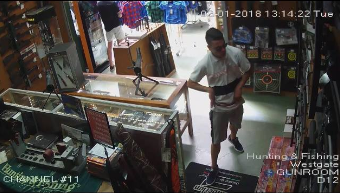 CCTV footage of thief
