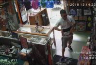 CCTV footage of thief