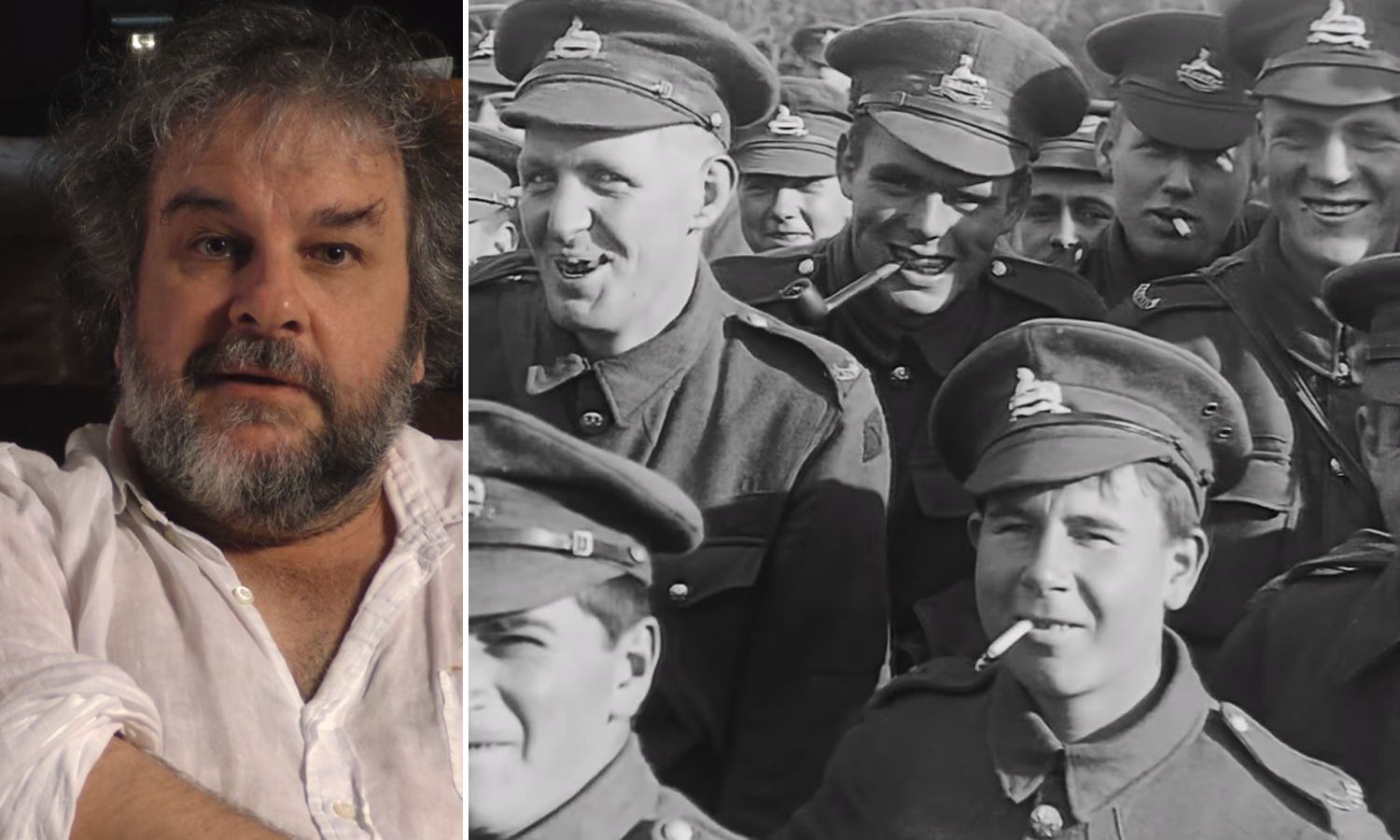 Director Peter Jackson restores archive footage to make…
