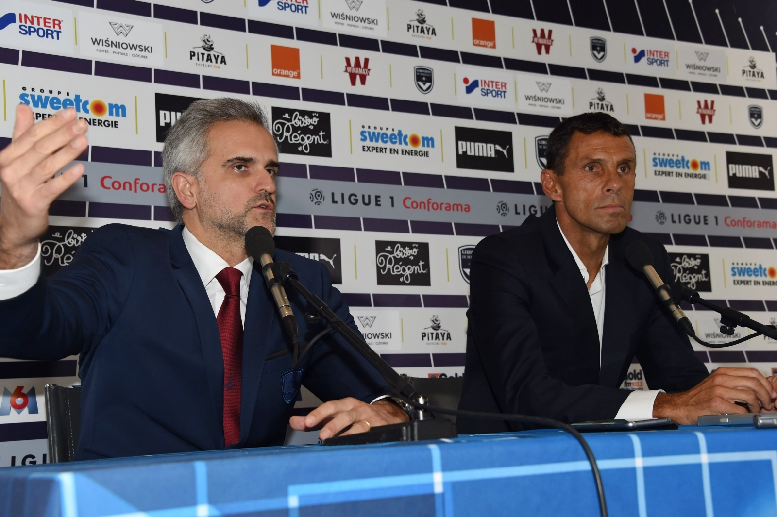Stephane Martin and Gus Poyet