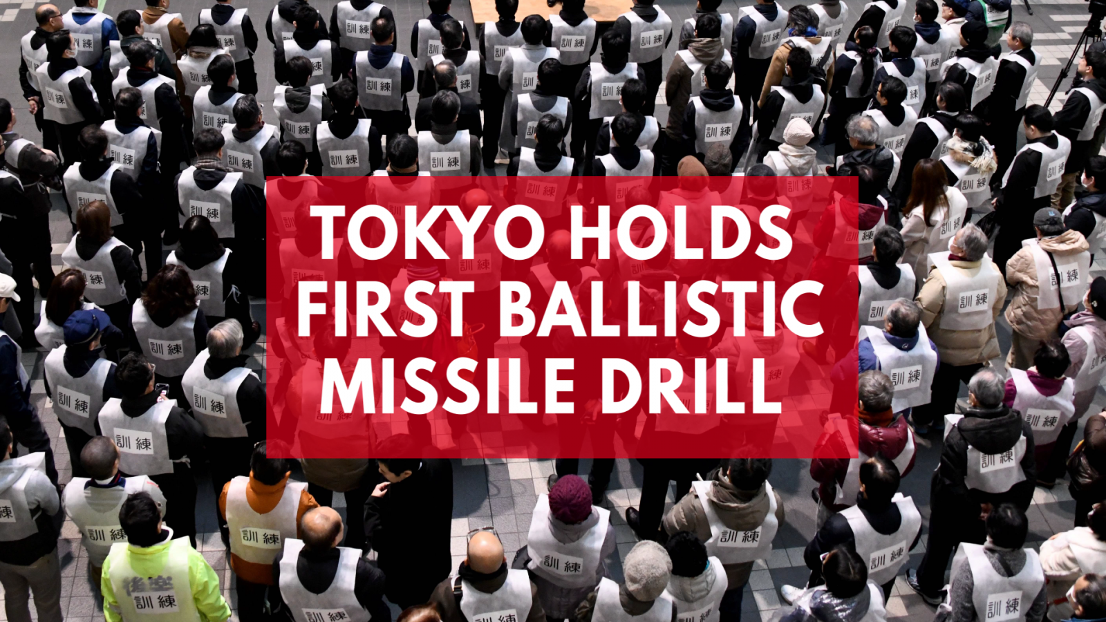Tokyo prepares for nuclear war with drill amid tensions with North Korea