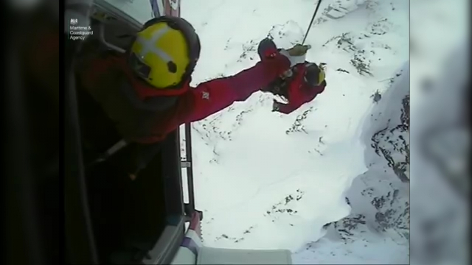 Watch Dramatic Helicopter Rescue Of Two Skiers Trapped On Scottish Mountain