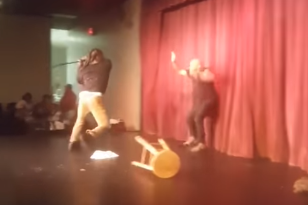 Comedian attacked on stage