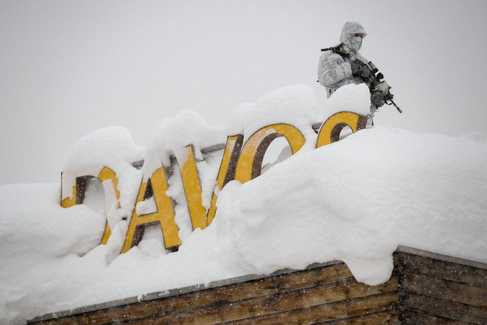 Sniper at the Davos summit