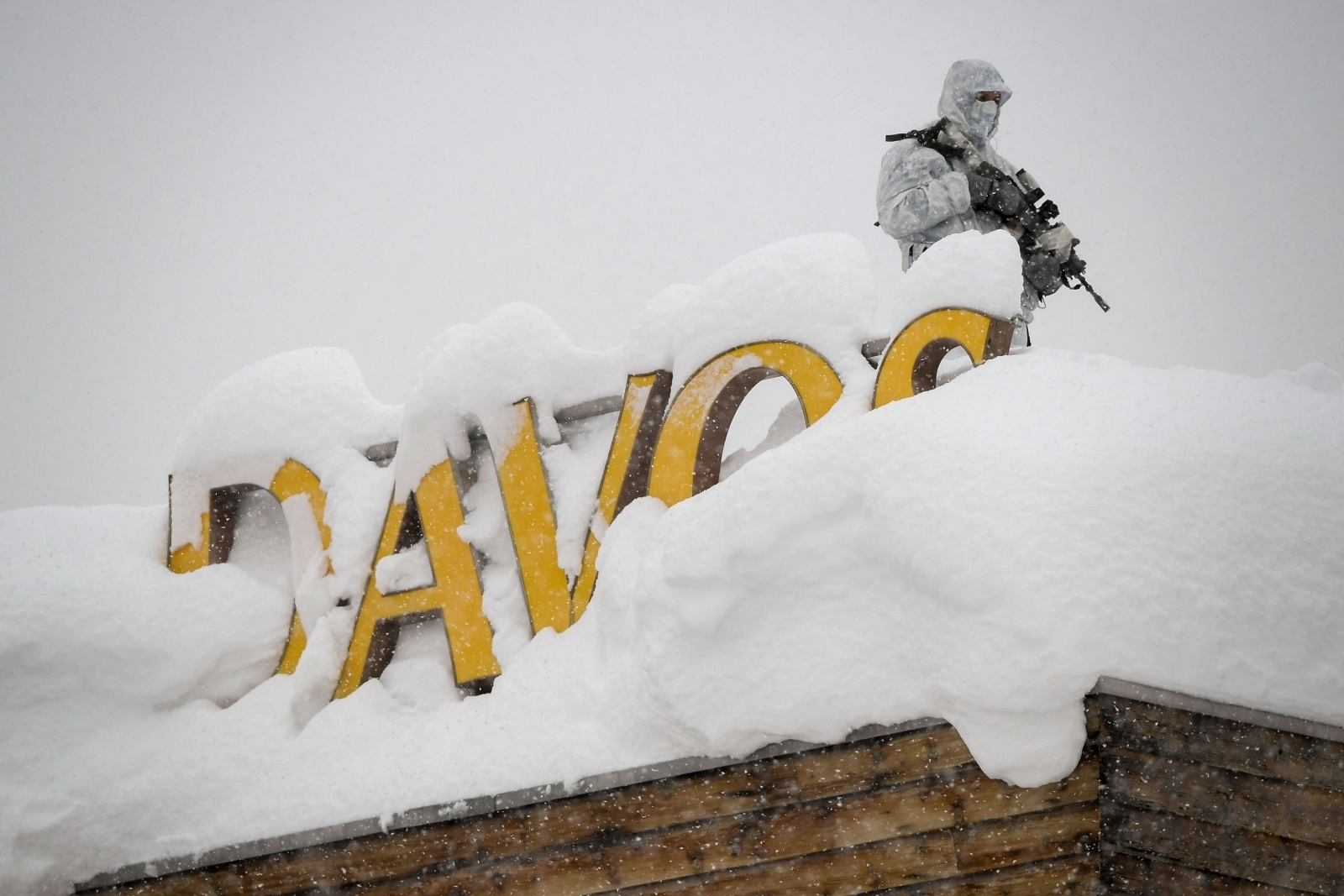 Sniper at the Davos summit