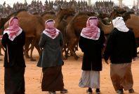 Saudi camel men