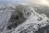 Japan volcano ski resort avalanche