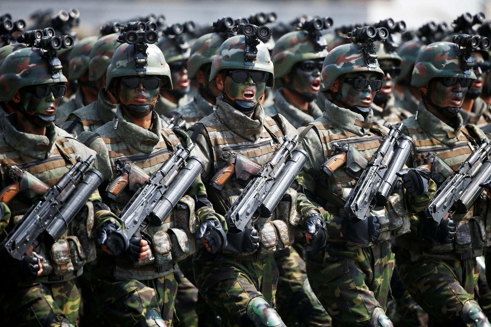 North Korea military movement and parade