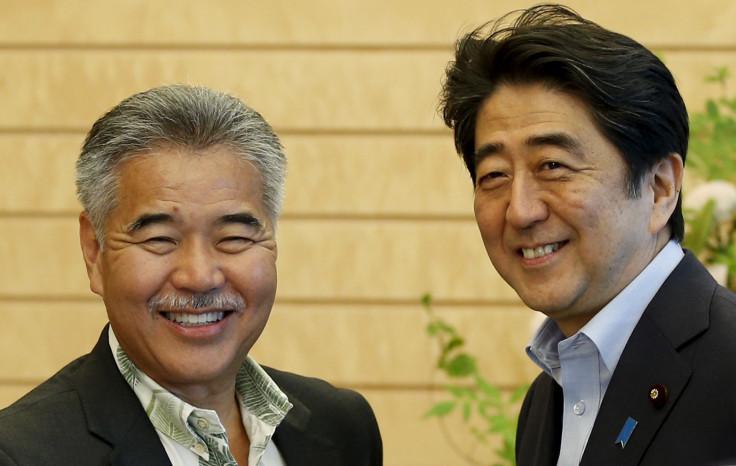 Hawaii Governor Ige with Japan's PM Shinzo Abe