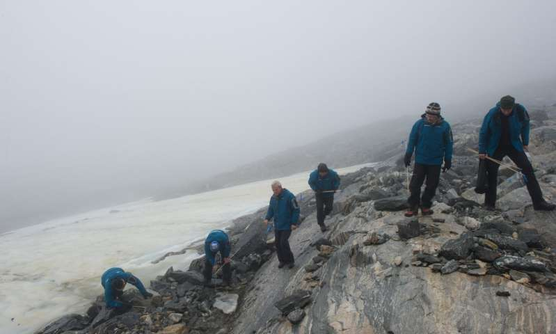 Glacial archaeologists