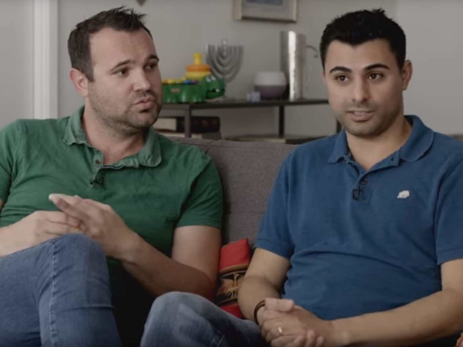 Gay couple's twin babies battle immigration: One's a USA citizen, other isn't