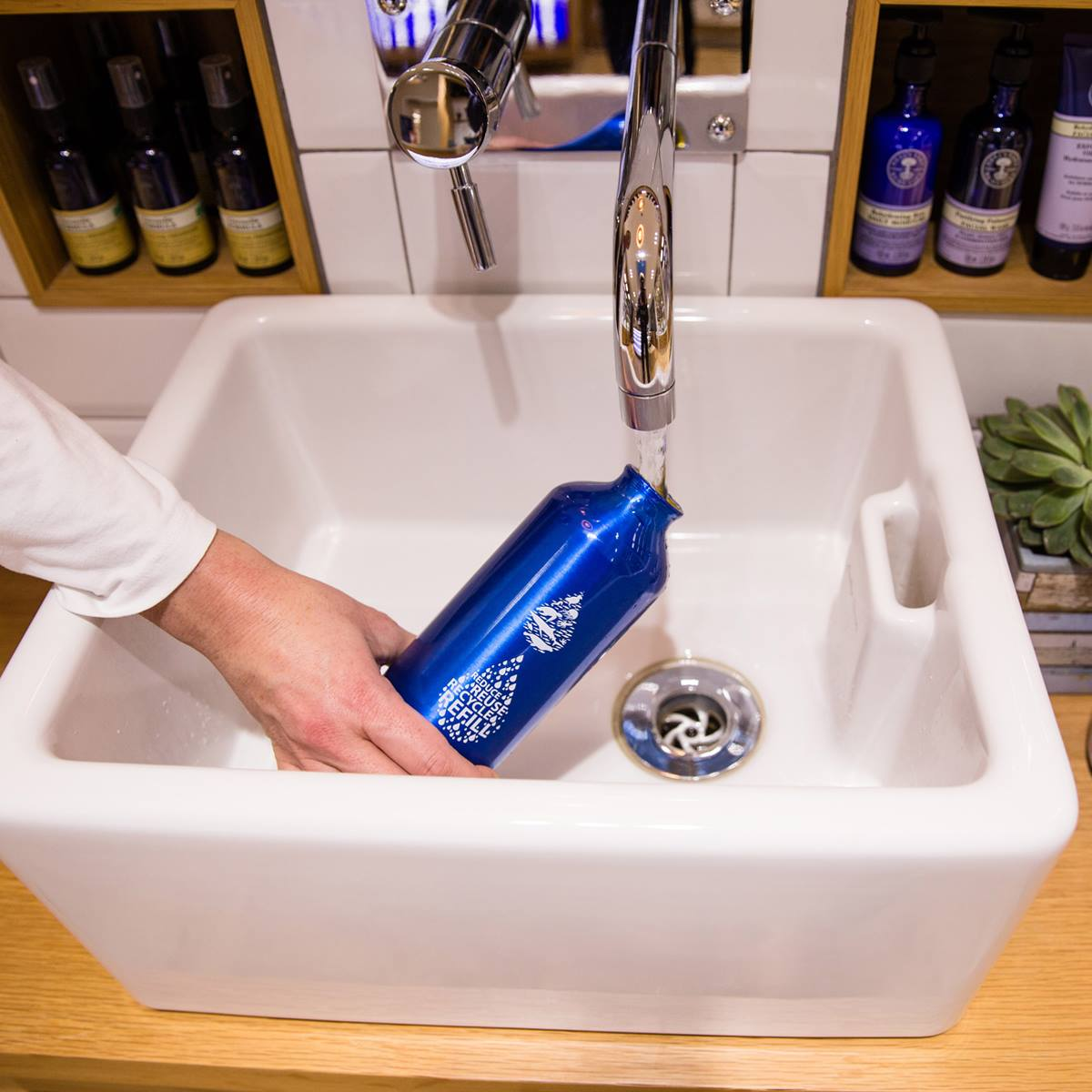 Neal's Yard Remedies water refill station