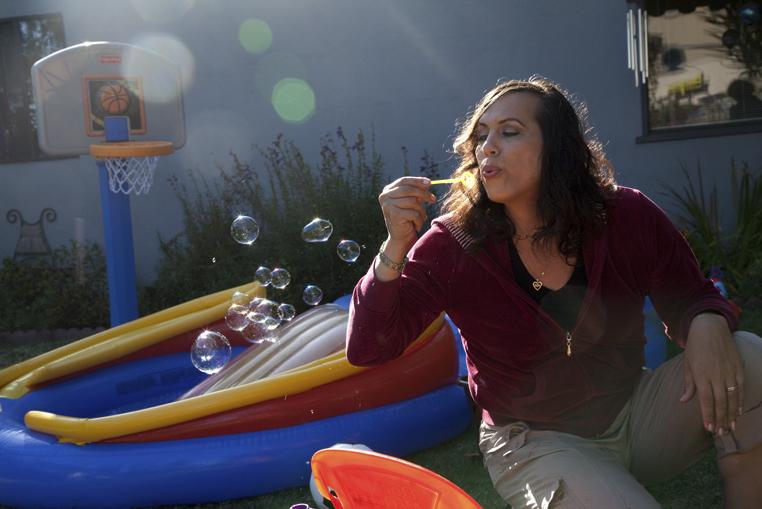 Tiffany in her back yard, San Leandro, California, 2010