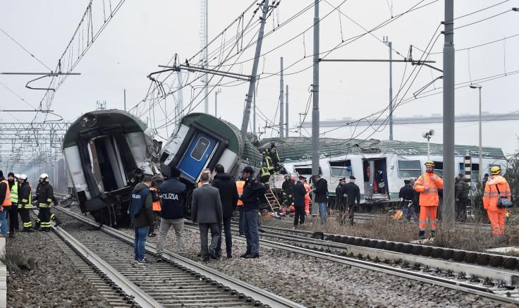 Milan train crash