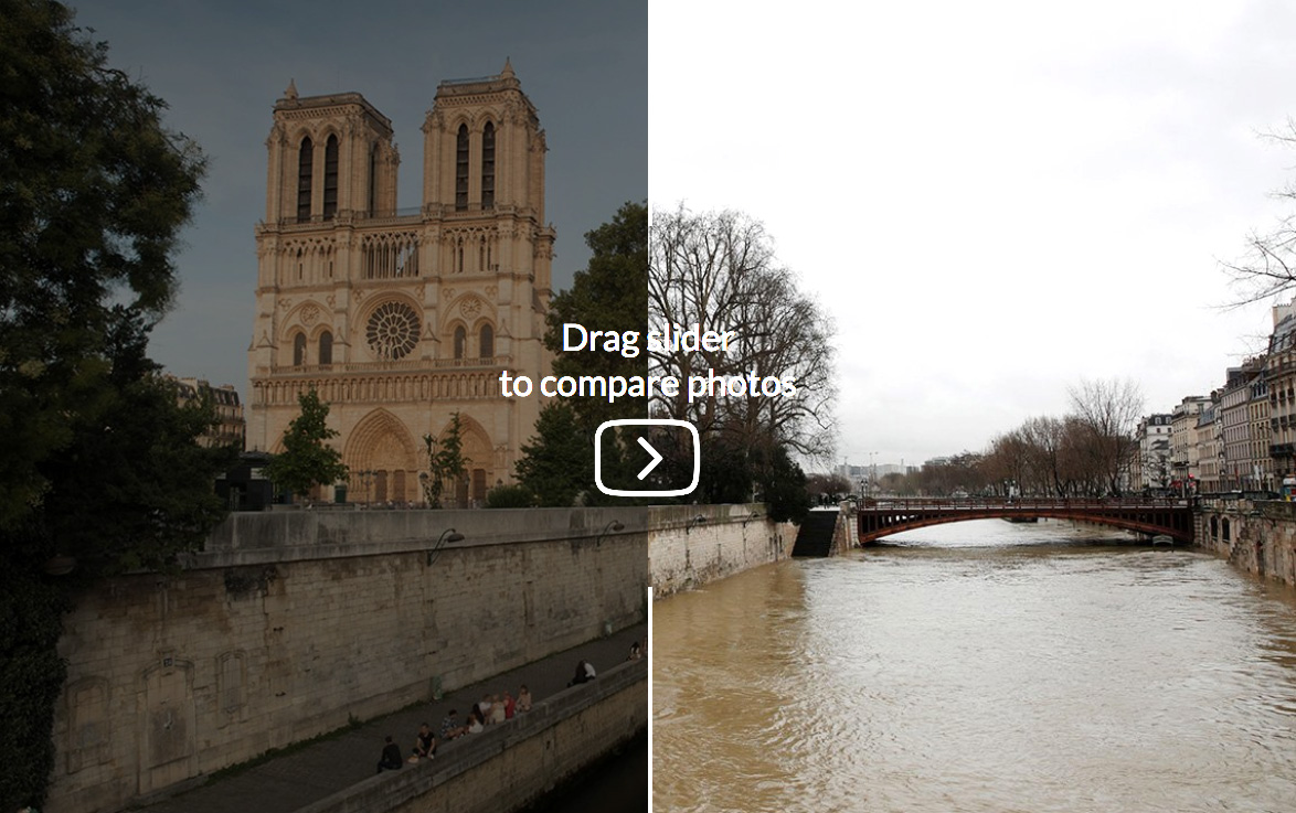 Paris before and after