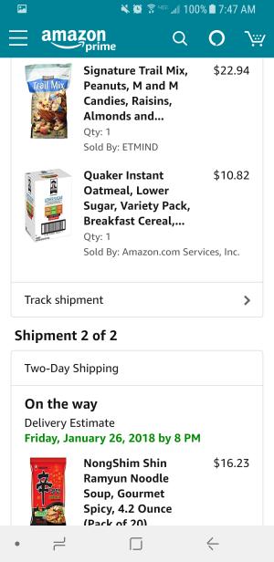 Amazon Prime order