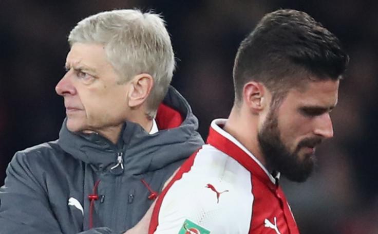 Arsene Wenger and Olivier Giroud