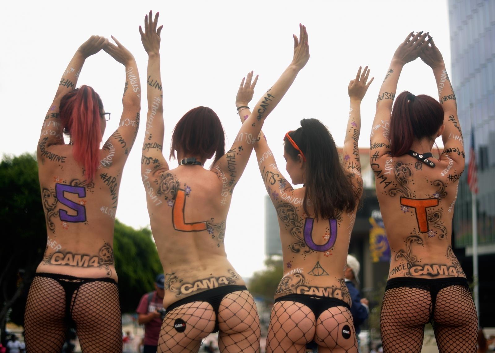 Slut Walk protestors