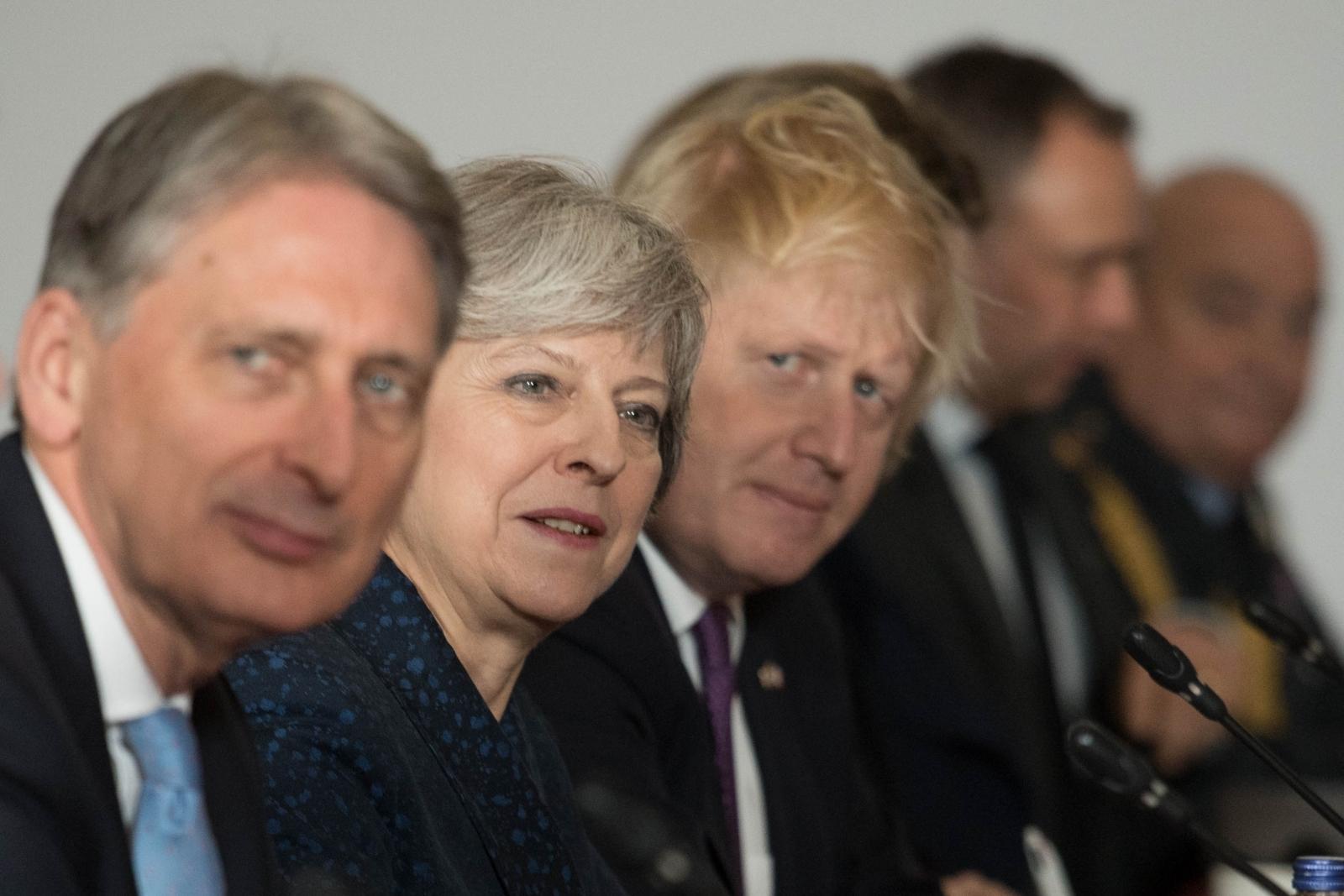 T May, B Johnson and P Hammond