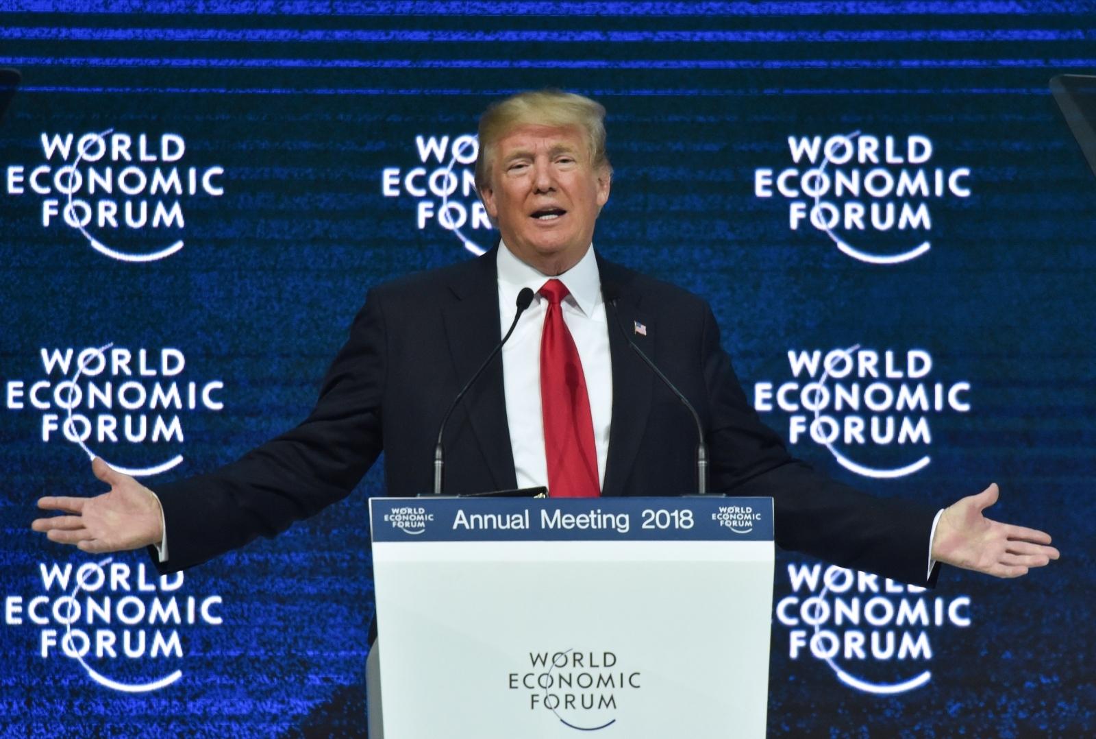 Donald Trump at the World Economic Forum