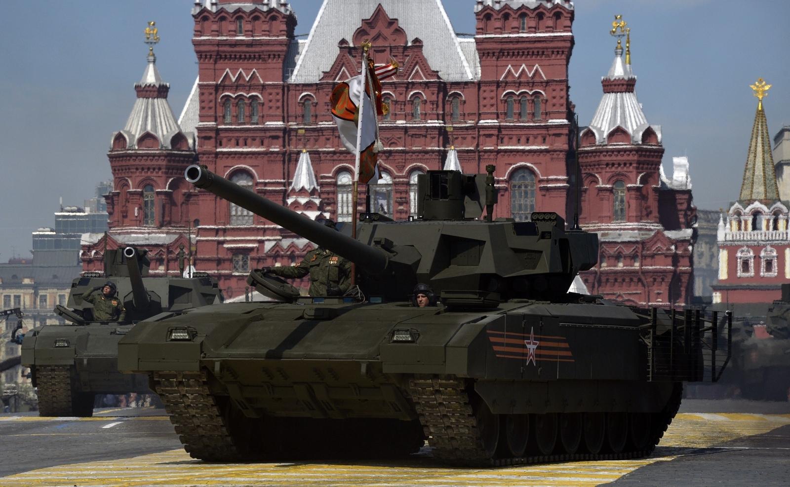 Russian T-14 Armata tank in Red Square