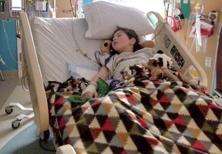 Liam Flanagan in the hospital