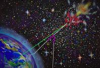 Cosmic messenger particles
