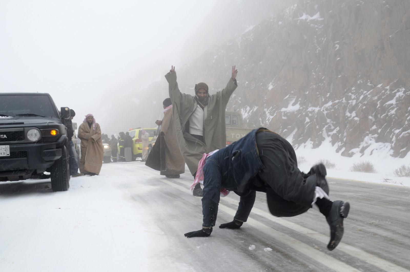 Tabuk, Saudi Arabia, snow