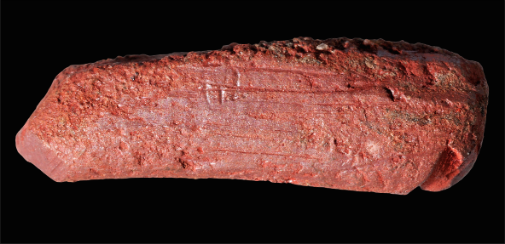 Ancient ochre crayon