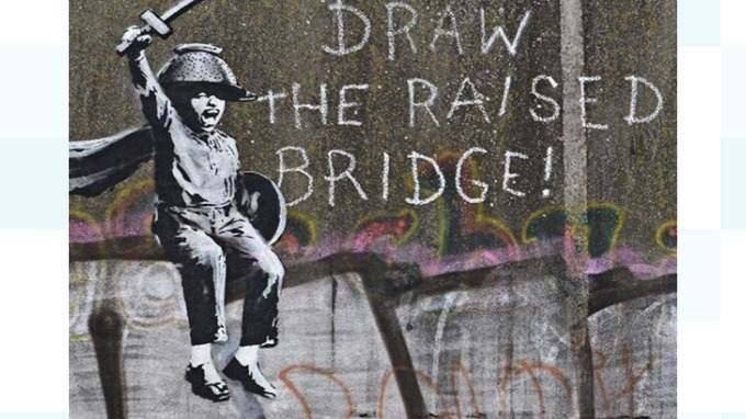 Calls for Banksy's latest artwork to be 'cleaned off' bridge in Hull